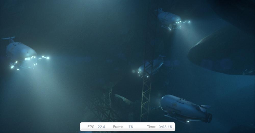 ภาพที่ 1: Deep Sea ฉากแรก