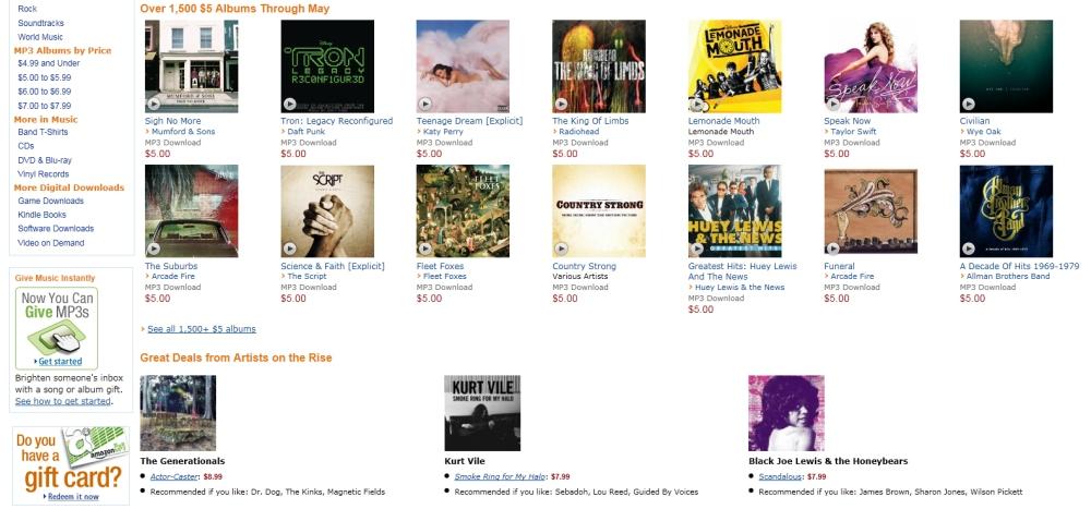 Amazon MP3 Store มีลูกเล่นที่ไม่แพ้ iTunes จาก Apple เลยทีเดียว