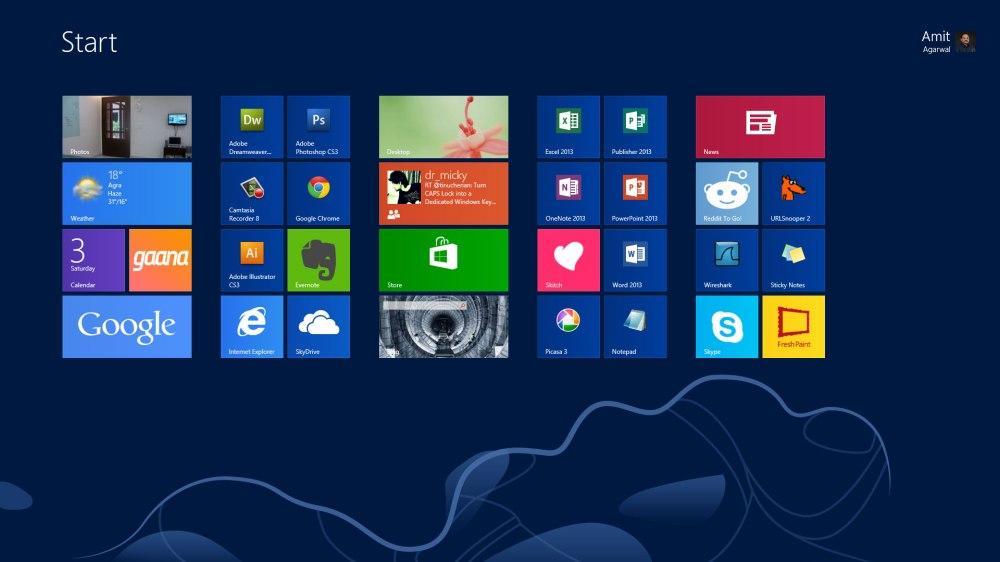 หน้าจอเริ่มต้นของ Windows 8 ที่ได้ขึ้นชื่อว่าเป็นทั้งจุดเด่นและจุดด้อยของมันเอง