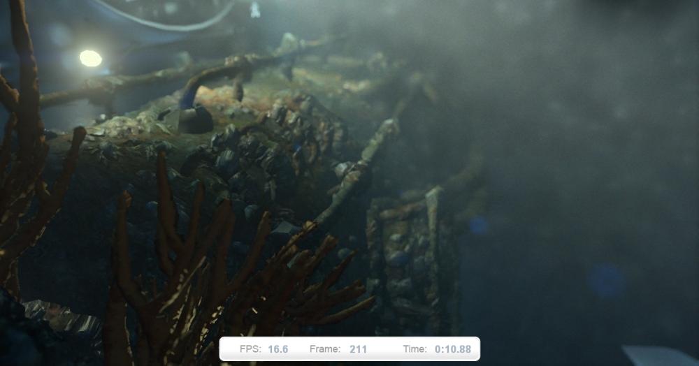 ภาพที่ 2: Deep Sea ฉากที่สอง ที่เน้นการใช้ลูกเล่น Tessellation มากขึ้น