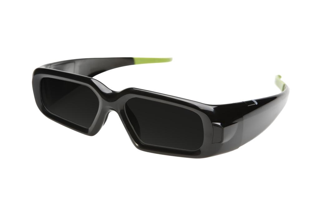 แว่นแบบ LCD shutter จากชุดคิท 3D Vision ของ NVIDIA