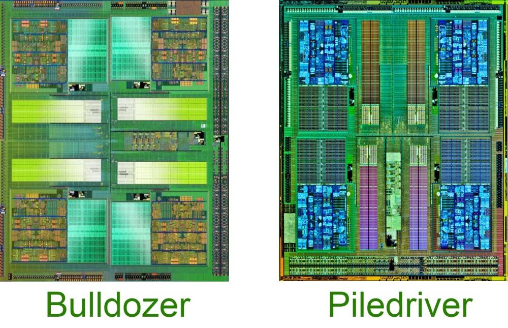 โครงสร้างภายในของ Bulldozer เมื่อเทียบกับ Piledriver