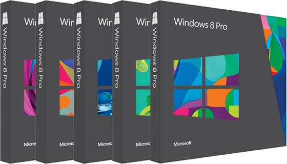 หน้าตากล่องบรรจุภัณฑ์ของ Windows 8 อันเต็มไปด้วยสีสัน