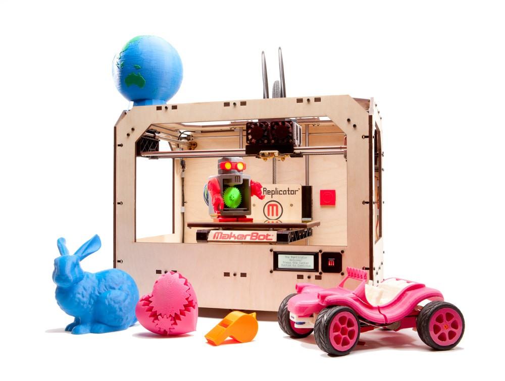 The MakerBot Replicator หนึ่งในเครื่องพิมพ์สามมิติสำหรับใช้ตามบ้านที่สามารถใช้งานได้จริง