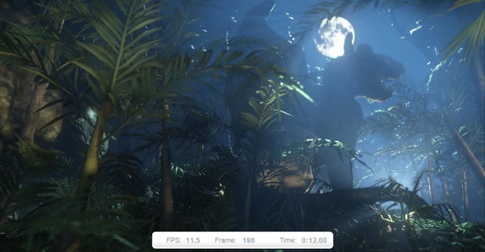 ภาพที่ 4: High Temple ตอนกลางคืนที่เน้นเอ็ฟเฟ็คการแสงจากแหล่งกำเนิดหลายแห่ง