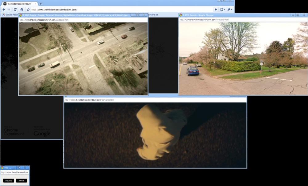 ภาพที่ 3 The Wilderness Downtown เว็บไซต์ที่นำคุณสมบัติ HTML5 มาใช้งานได้อย่างน่าทึ่ง