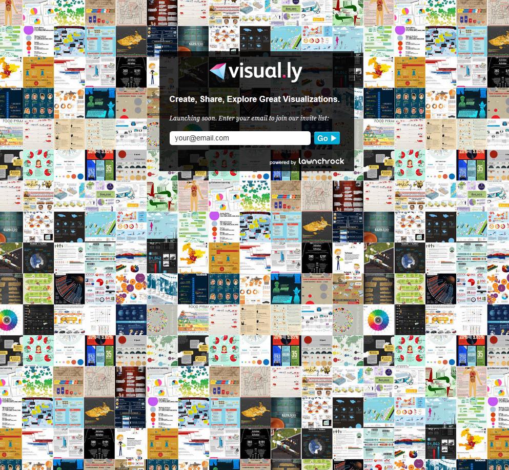 visual.ly เว็บไซต์น้องใหม่ที่เป็นแหล่งรวม infographic หลายรูปแบบ และผู้ใช้สามารถสร้างขึ้นมาได้เองอีกด้วย เป็นอีกทางเลือกหนึ่งในการแสดงข้อมูลปริมาณมากๆ
