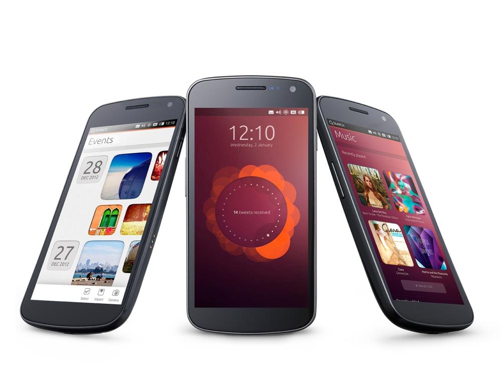 หน้าตาของระบบปฏิบัติการ Ubuntu บนสมาร์ทโฟน