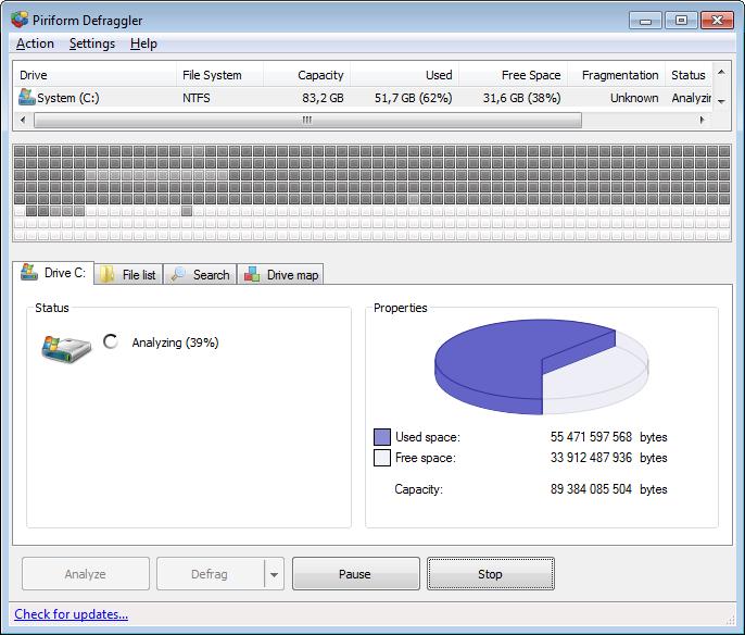 Defraggler สุดยอดโปรแกรมจัดเรียงข้อมูลในฮาร์ดดิสก์ที่สามารถดาวน์โหลดมาใช้ได้ฟรี