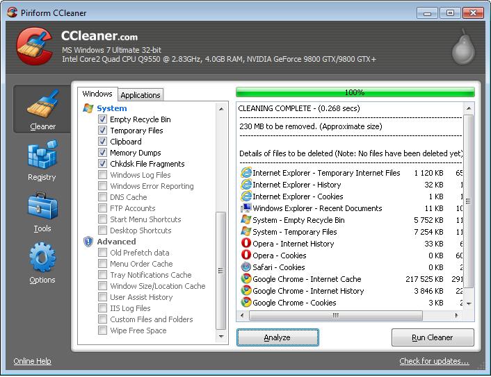 CCleaner โปรแกรมกำจัดไฟล์ขยะที่ทุกคนน่าจะคุ้นเคยกันดี