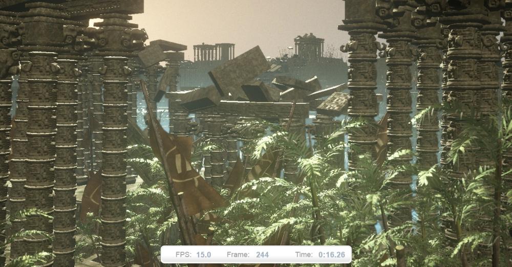 ภาพที่ 6: ฉากที่รวมการทดสอบของทั้งซีพียูและจีพียูเข้าไว้ด้วยกัน