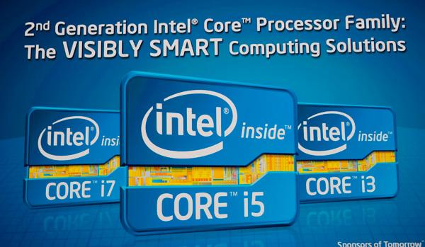 โลโก้ใหม่ที่ Intel ใช้กับซีพียู Sandy Bridge ของตน