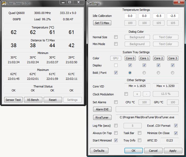 Real Temp โปรแกรมคุณภาพดีสำหรับวัดอุณหภูมิโปรเซสเซอร์