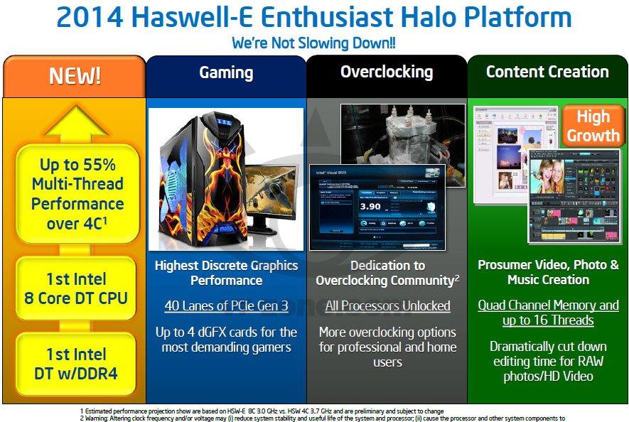 รายละเอียดของ Haswell-E เท่าที่ได้รับการเผยแพร่ออกมา แล้วเจอกันปีหน้า?