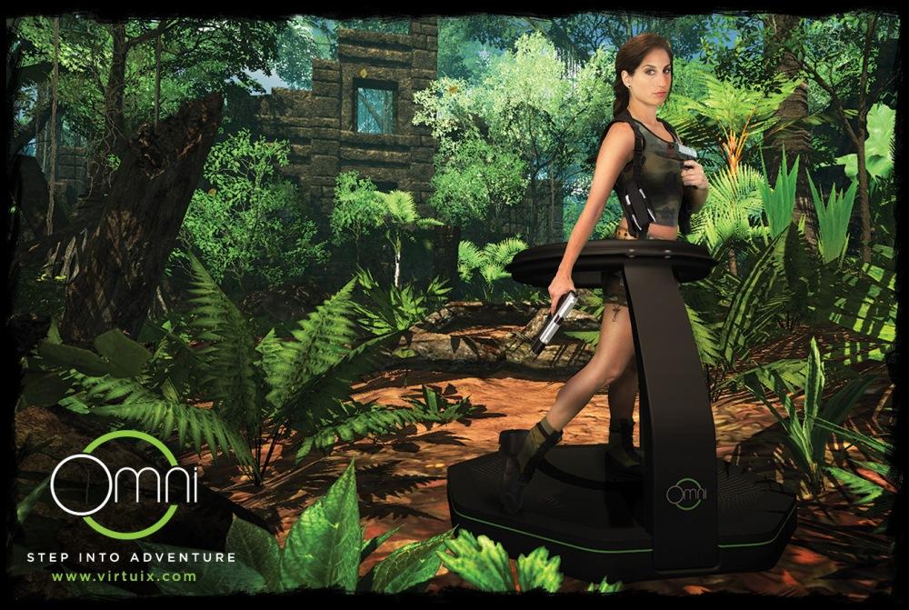ที่เห็นไม่ใช่ลู่วิ่ง แต่คือ Virtuix Omni อุปกรณ์เล่นเกมที่ให้เราวิ่งไปพร้อมกับตัวละครในเกมได้